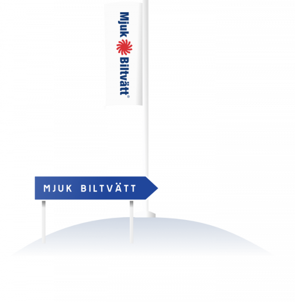 flagga-pilskylt